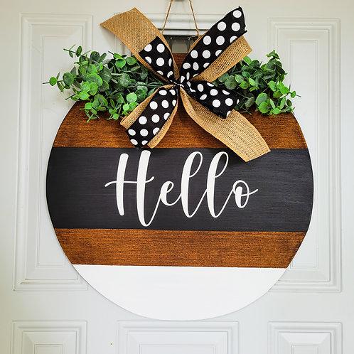 Everyday door hanger,  hello wreath