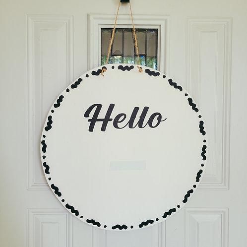 Interchangeable door hanger, front door wreath,  Interchangeable wreath