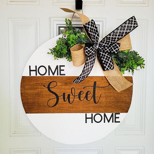 Everyday door hanger,  home sweet home wreath