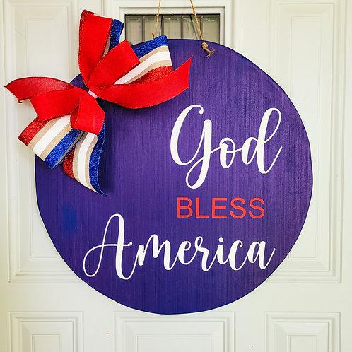 Patriotic door hanger, summer door hanger, 4th of July wreath, summer wreath