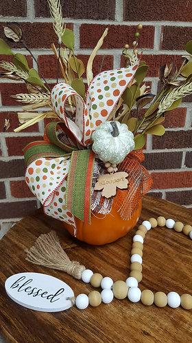 Pumpkin Centerpiece,  fall centerpiece for table