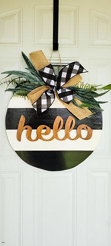 Everyday door wreath, Everyday door hanger, hello door wreath