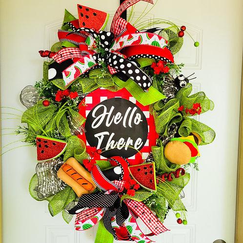 Summer wreath,  summertime wreath for your door