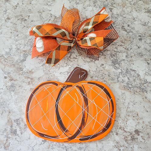 Pumpkin Attachment, Interchangeable wreath, interchangeable attachment