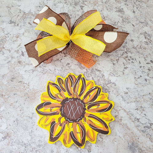 Sunflower Attachment, Interchangeable wreath, interchangeable attachment