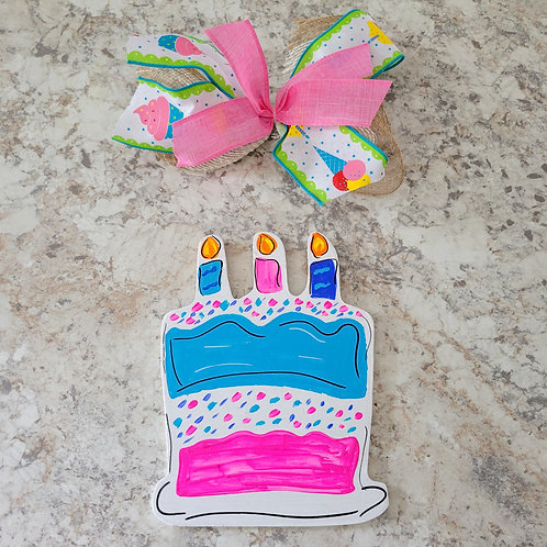 Birthday Cake Attachment, Interchangeable wreath, interchangeable attachment