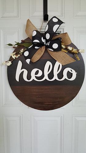 Everyday door hanger,  farmhouse decor,  black and white door hanger,  everyday