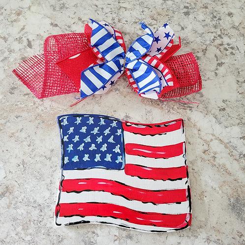 Flag attachment, interchange wreath, attachment