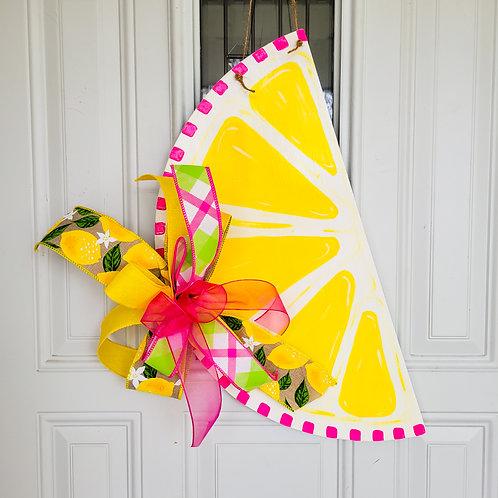 Lemon door hanger, summer door decor, summer door hanger for front door, lemon