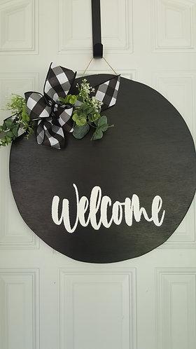 Welcome Door Hanger, Everyday door hanger, door decor, farmhouse door, farmhouse