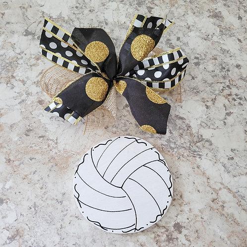 Volleyball attachment, interchangeable wreath, attachement