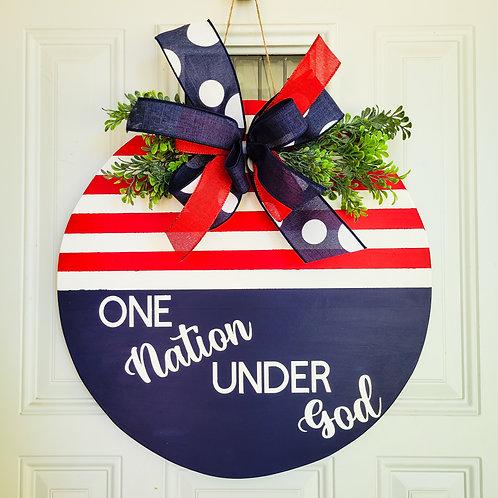 Patriotic door hanger,  patriotic wreath,  summertime door hanger