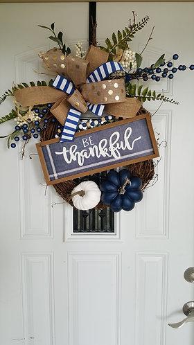 Fall wreath for front door,  fall wreath with pumpkins,  fall door decor,  fall