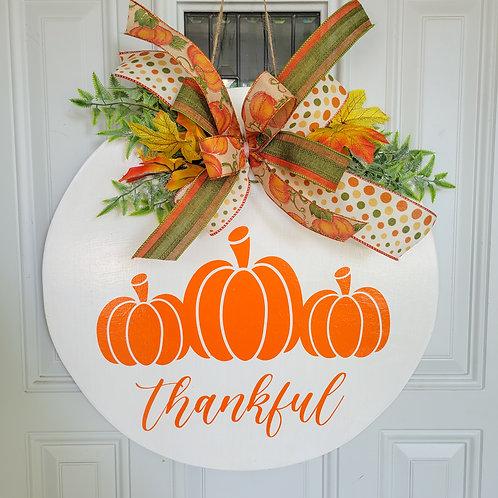 Fall door hanger,  fall wreath, pumpkin door hanger,  pumpkin wreath