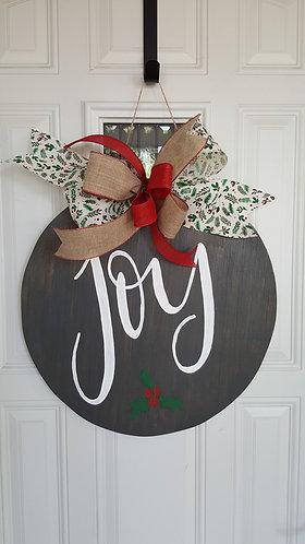 Joy door hanger,  holiday decor,  holiday door hanger, Christmas decor