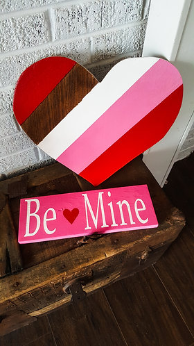 Valentine's day decor,  Valentine's day sign and heart