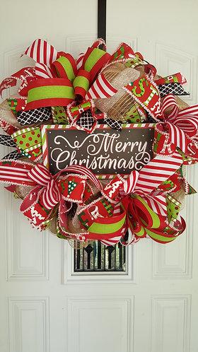 Beautiful Christmas wreath for your front door,  Christmas wreath,  Christmas
