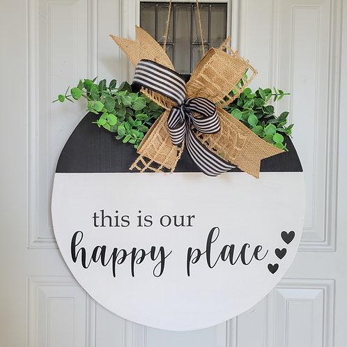Everyday door hanger,  Everyday wreath,  black and white wreath