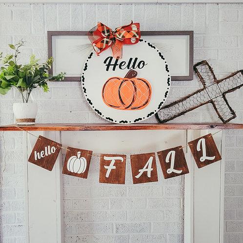 Fall wooden banner,  fall banner,  fall decor
