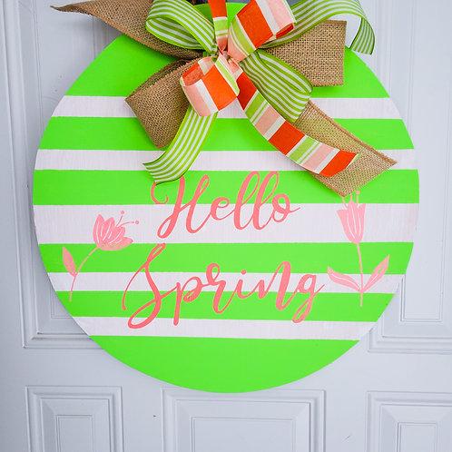 Spring wreath for front door,  spring wreath,  spring door decor,  spring decor