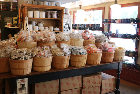 An array of old-fashioned candy at Stowe Mercantile.