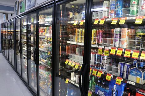 Beverage selection at D's Market