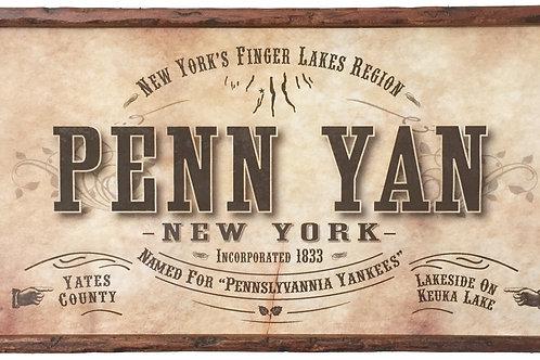 Antique Look Plaque - Penn Yan
