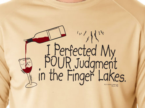 PERFECTING POUR JUDGMENT TEE - Wine