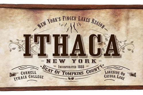 Antique Look Plaque - Ithaca, NY