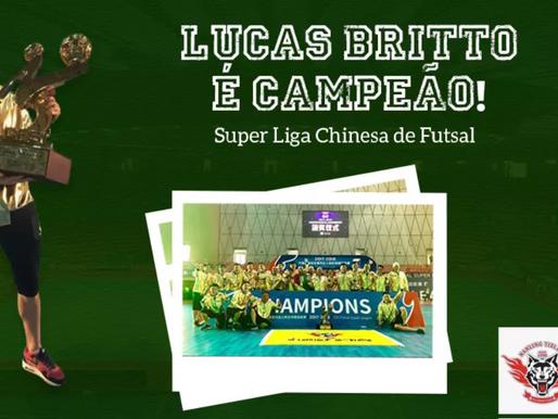 Lucas Britto é Campeão de Futsal na China