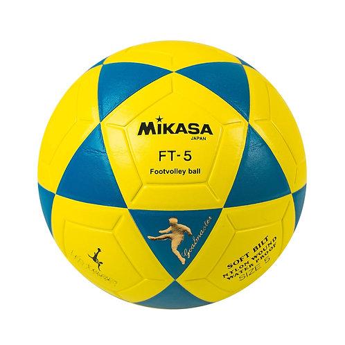 Bola de Futevôlei Mikasa Léo Tubarão Amarelo e Azul