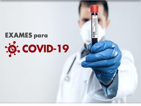 Exames para o COVID-19