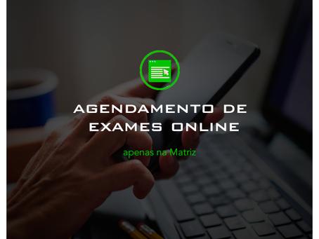 Agendamento de Exames Online