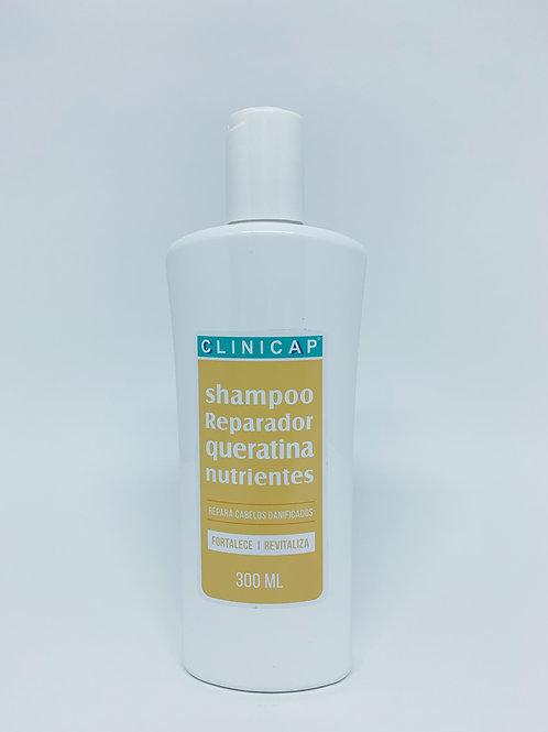 Shampoo Reparador Queratina para Cabelos Danificados 300ml