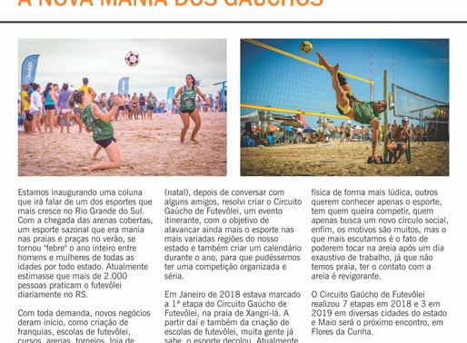 Futevôlei na edição 55ª da Revista 100% Esporte