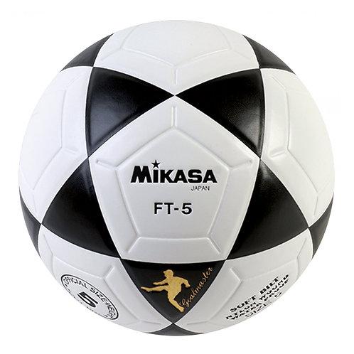 Bola de Futevôlei Oficial Mikasa FT5 - preto e branco