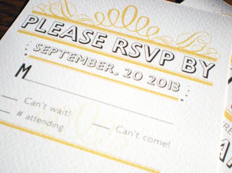 Para os convidados - RSVP