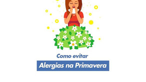 Como evitar alergias na primavera