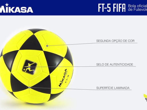 Você sabia que a bola de FUTEVOLEI mikasa ft5 possui um selo de autenticidade?
