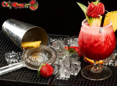 Morango Colada - o drink da sexta-feira!