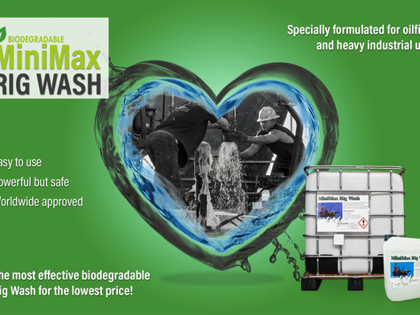 The most effective biodegradable Rig Wash at the lowest price: MiniMax Rig Wash