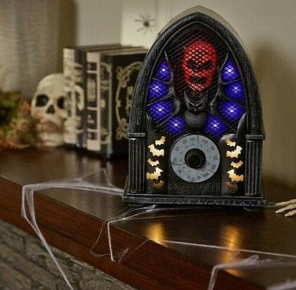 Animated Haunted Bat & Skull Radio - Gemmy