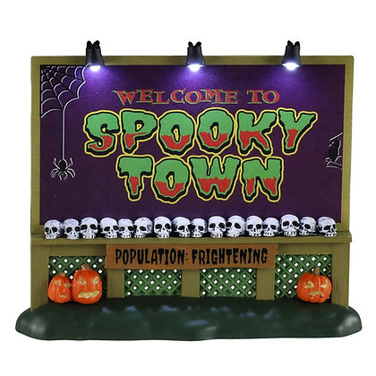 Spooky Town Sign