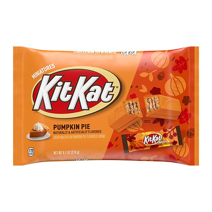 Pumpkin Pie Flavoured Kit Kat Miniature Wafer Candy Bars