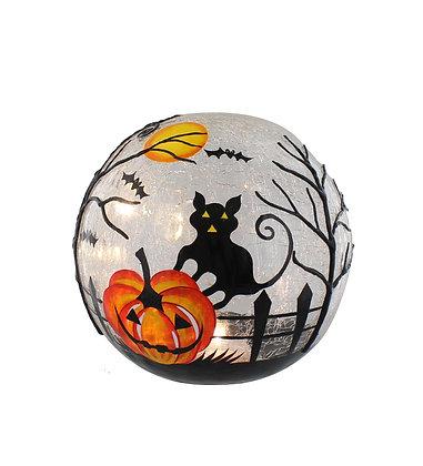 20cm Lit Halloween Crackle Ball