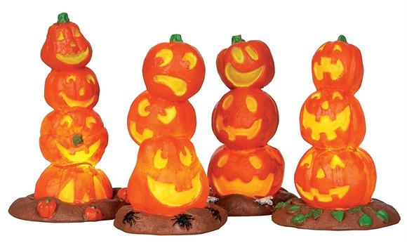 Light-up Pumpkin Stack, Set Of 4