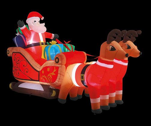 Christmas inflatable Santa's sleigh