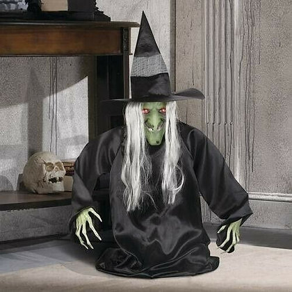Animated 3ft Rising Groundbreaker Witch - Gemmy