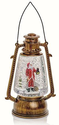 Hurricane Water Spinner Lantern Santa