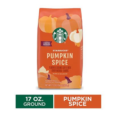 Starbucks Pumpkin Spice Flavoured Ground Coffee Light Roast Coffee, 17 Oz